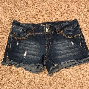 2/$20 Amethyst jean shorts, size 9